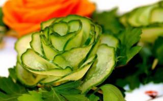 Цветок из овощей: мастер-класс. Украшение блюд (фото). Украшения блюд: Розы из овощей своими руками