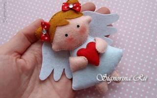 Рождественский ангел из фетра. Как сделать ангелочков из фетра своими руками