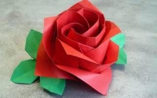 Как сделать оригами розу из бумаги. Роза оригами: мастер-класс по созданию розы Кавасаки с фото и подробным видео-уроком