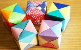 Как сделать из бумаги волшебный квадрат. Объемные бумажные кубики без клея и ножниц