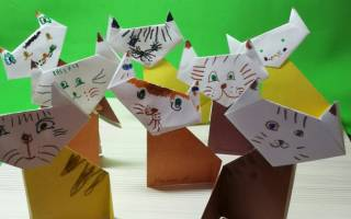 Как сделать кошечку из бумаги оригами. Оригами кошка: учимся делать любимых питомцев из бумаги