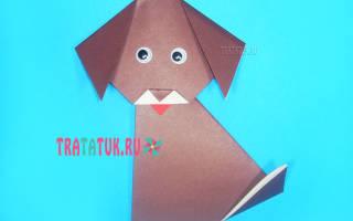 Как сделать из бумаги 3d таксу. Как сделать из бумаги собаку оригами своими руками