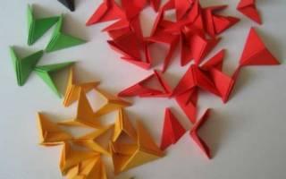 Как сделать оригами из треугольников. Модульное оригами для начинающих