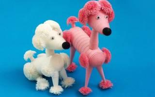 Поделка собака своими руками из бумаги, полимерной глины, ткани, крючком: выкройки, шаблоны, фото. Поделка собака в школу, детский сад, на конкурс: схема изготовления