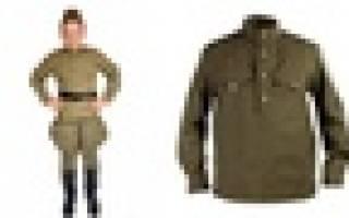 Выкройка гимнастерки военной для ребенка. Военные детские костюмы своими руками