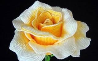 Роза из бисера на проволочной основе. Мастер-класс: розы из бисера. Как сделать розу из бисера