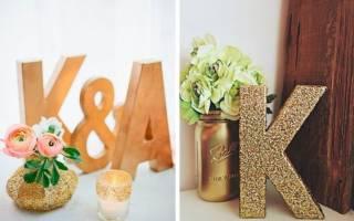 Как сделать объемные буквы из пенопласта своими руками? Объемные буквы из пенопласта: своими руками декор торжества