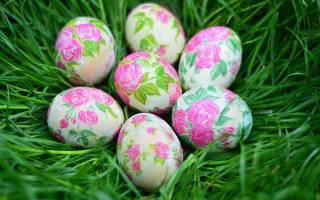 Декупаж пасхальных яиц салфетками своими руками: мастер класс. Декупаж пасхальных яиц салфетками