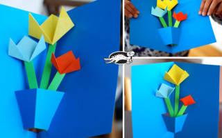Как сделать открытку на 9 мая легкую