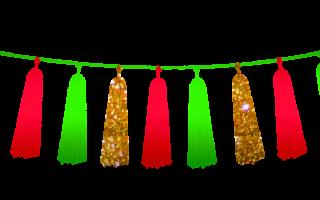 Как делать гирлянды на новый год. Как сделать гирлянду из бумаги
