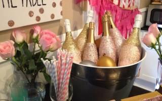 Декупаж свадебных бутылок шампанского своими руками. Покраска бутылки шампанского и декорирование стразами