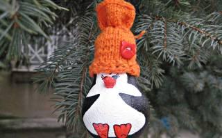 Как сделать из лампочки пингвина. Игрушки на елку – не светящиеся пингвины. Как сделать: новогодняя игрушка Пингвиненок из перегоревшей лампочки