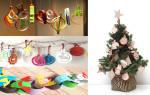 Как сделать новогоднюю игрушку из бумаги поэтапно. Новогодние игрушки своими руками