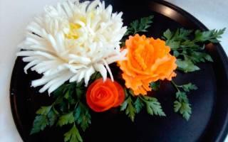 Цветы из морковки. Как сделать украшение из овощей своими руками? Мастер-классы и видео