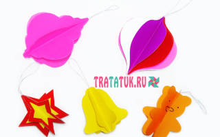 Как сделать елочные игрушки из бумаги? Как сделать игрушку из бумаги