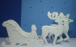 Олень и дед мороз на окна шаблоны. Дед мороз из бумаги своими руками