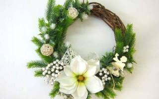Новогодние венки из подручных средств своими руками. Фрукты и ягоды. Создание рождественского венка