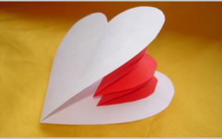 Объемная валентинка своими руками из бумаги шаблоны. Ароматная валентинка из кофейных зерен. Бумажные объемные сердечки