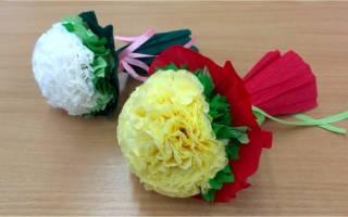 Сделать цветы на 8 марта из бумаги. Восемь разных цветов и вазочка. Круглый торт из бумаги своими руками