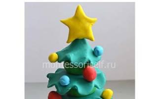 Елка из пластилина своими руками. Как слепить новогоднюю елку с игрушками из пластилина своими руками поэтапно
