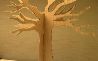Дерево из картона своими руками объемное декорация. Дерево из картона
