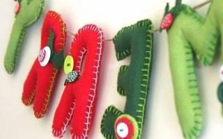 Сделать новогодние игрушки своими руками. Украшения в технике «квиллинг». Варежки из фетра