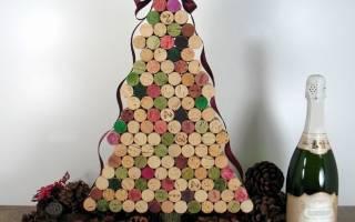 Маленькая новогодняя елка своими руками. Елки из винных пробок. Елочка из фетра своими руками