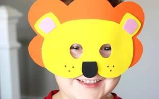 Маска карнавальная своими. Как сделать маску из цветного картона
