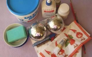 Как сделать новогодний шарик из бусин. Шар на елку в технике канзаши. Как украсить своими руками новогодние шарики в технике декупаж