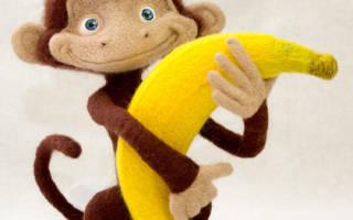 Обезьянка из шерсти. Этот мастер-класс валяния из шерсти поможет сделать игрушку обезьянку своими руками