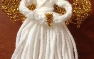 Ангелочек своими руками из ниток. Ангелок в шаре из нитей