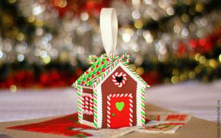 Пряничный домик из картона и полимерной глины своими руками. Пряничный домик своими руками