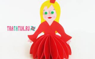 Сделать принцессу из бумаги руками. Куклы из бумаги своими руками (схемы, шаблоны)