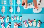 Снеговик из ватных дисков своими руками. Самодельный новогодний снеговик из ваты — Мастер-класс с фото. Для этого потребуется