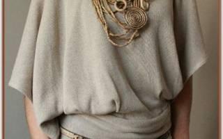 Сшить блузку из шелка своими руками. Блузка с кулиской. Линия бока и короткий рукав