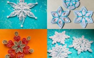 Снежинки в технике квиллинг — новогоднее бумагокручение! Снежинки квиллинг: изящное украшение своими руками