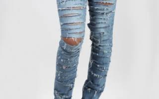 Как сделать порванные джинсы на коленях. Фото модных и красивых рваных джинс. Как переделать старые джинсы