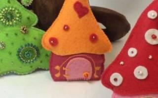 Елочные игрушки на маленькую елку своими руками. Мастер класс по созданию игрушки на елку. Как украшать фетровые елочные игрушки