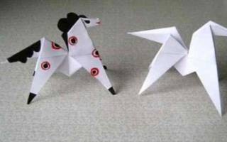 Как сделать лошадь из бумаги оригами. Как сделать лошадь из бумаги. Как сделать лошадку из бумаги