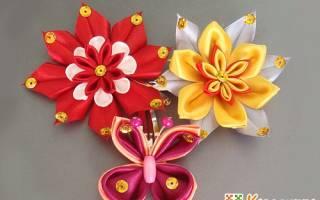 Красивые канзаши мк. Техника канзаши: создаем украшения из атласных лент своими руками