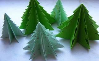 Бумажные елочные. Как просто сделать елку из бумаги своими руками