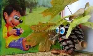 Леший из природного материала. Поделка лесовичок из шишек. Лесовичок из шишек своими руками. фото идей поделок из шишек