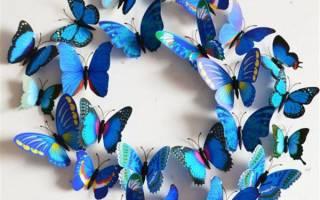 Как из бумаги сделать бабочку своими руками на стену: шаблоны, трафареты для распечатывания и вырезания, фото. Как сделать красивую бабочку из бумаги оригами, летающую, снежинку, аппликацию, панно, ажурную для украшения интерьера