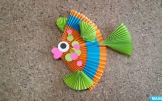 Золотая рыбка своими руками из картона. Рыбка из бумаги