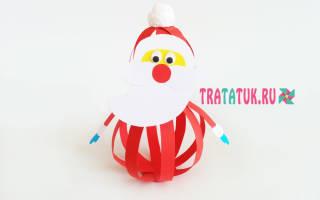 Дед мороз из бумаги кружочками. Дед мороз из бумаги своими руками