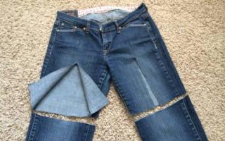 Какой строчкой подшить джинсы которые тянутся. Как обрезать джинсы под шорты женские и мужские? Как сделать из джинс модные шорты с подворотом и рваные