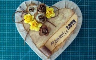 Шкатулка в форме сердца из картона и ткани: мастерим «с нуля» своими руками. Шкатулка из картона своими руками: подробные мастер классы для начинающих с фото и описанием работы