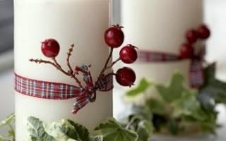 Сделать новогоднюю композицию со свечой своими руками. Красивые новогодние композиции своими руками