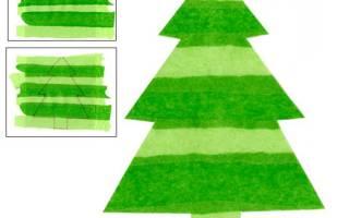 Аппликация на тему новогодняя елка. Аппликация Елочка» из бумаги своими руками. Делаем с детьми объемную аппликацию «Елочка»