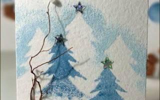 Новогодняя открытка своими руками для подруги. Красивые новогодние открытки своими руками